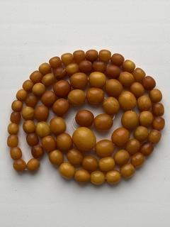 Янтарные бусы (Янтарь) - 51 грамм