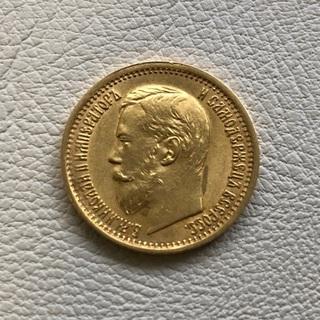 Пять рублей 1898 год большая голова 4.29г