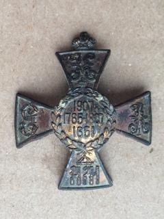 Полковой знак 11-го гусарского Изюмского полка.