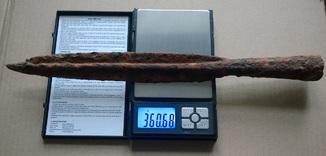 Копьё ржв 36,3 см, с гранёной втулкой, кимерийцы - скифы