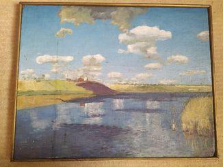 Картина у реки, 40х50