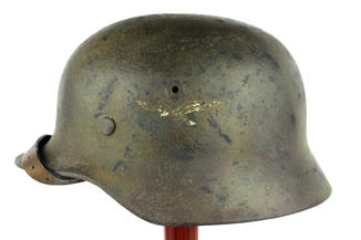 Каска М-35 Люфтваффе (Luftwaffe) + підшолом. Номерна. №159