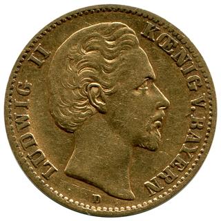 10 Марок 1873г. Бавария