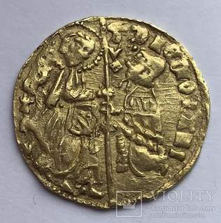 Цехин  1421-36гг. Филипп Марио Висконти.