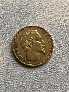 Франция 20 франков 1860 год золото 900'