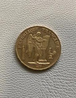 Франция 20 франков 1876 год золото 900'