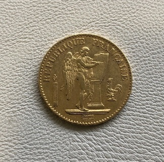Франция 20 франков 1878 год золото 900'
