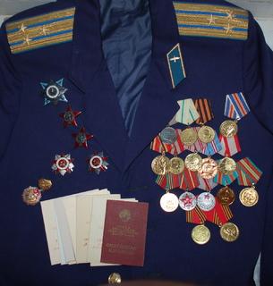 Комплект наград и документов на полковника ВВС СССР