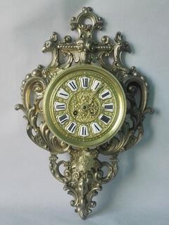 Настенные бронзовые часы мастера Eugene Farcot XIX века
