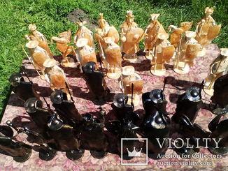 Шахматные фигуры, большие, кованые