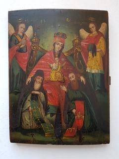 Киево-печерская икона Богородицы с предстоящими