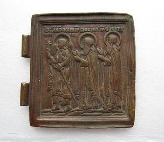 Створка складня / Ангел-Хранитель / Преподобные Зосима и Саватий