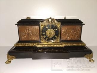 Антикварний камінний механічний годинник, Франція,  арт. 037
