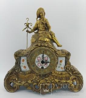 Механічний камінний годинник арт. 064