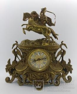 """Вінтажний камінний годинник """"Вершник"""" арт. 050"""