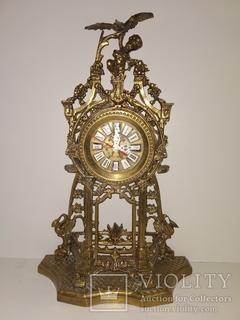 """Вінтажний настільний годинник """"Дитя з Орлом"""" арт. 022"""