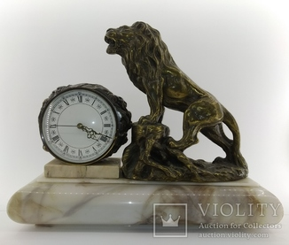"""Настільний годинник """"Лев""""  арт. 041"""