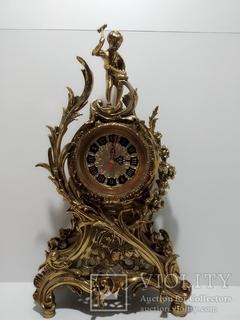 Камінний вінтажний годинник арт. 038