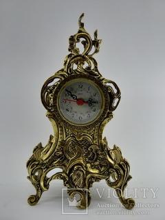 Камінний вінтажний годинник арт. 024