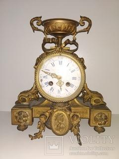 """Антикварний механічний камінний годинник з боєм """"Чаша""""  арт. 033"""