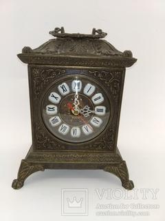 """Камінний вінтажний годинник """"Домік"""" арт. 027"""