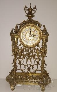 Камінний вінтажний годинник арт. 023