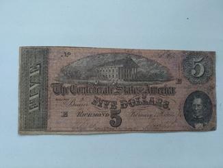 5 долларов 1864