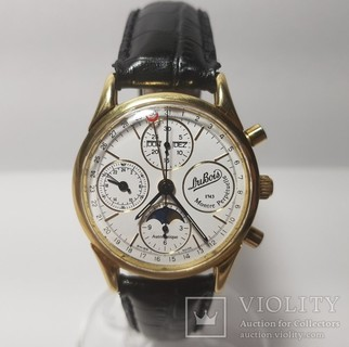 DuBois et fils Anniversary Edition 1743 - 1993 Gold Chronograph Moonphase