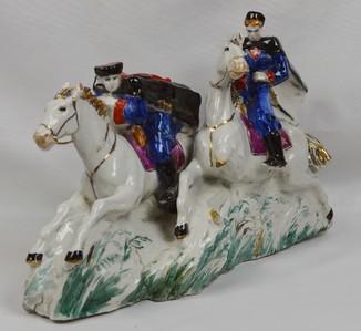 Cтатуэтка Гусары на конях. Джигитовка. Агитационная фигура.