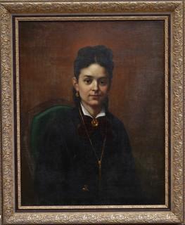Картина художник Розанов Николай, женский портрет, холст, масло, 1878 год.