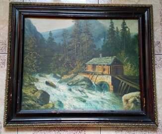 Картина  Старая  мельница до 1917 года