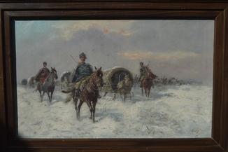 Картина Стоилов К., Козачий поход. Холст, масло. Размер 50 х 82 см.