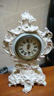 Часы будуарные фарфоровые