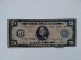 20 долларов 1914