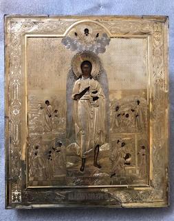 Икона Св. Иоанн Предтеча, с житием
