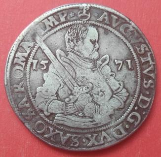 Рейхсталер 1571,  Саксония , Август (1553-1586 )