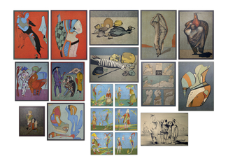 Коллекция из 19 оригинальных литографий Шемякина