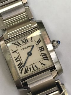 Cartier Tank Francaise Steel Ladies Watch 2384