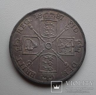 Великобритания двойной флорин 1887г.