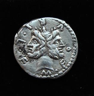 Луций Фурий Фил c сыном Марком Фурий Филом 120 год до н.э. серебро 3.73 г