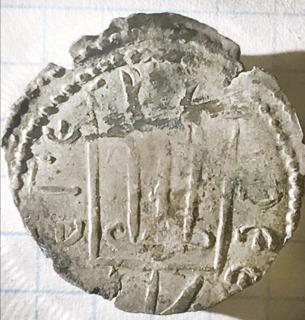 Серебреник Киевской Руси Владимира Святославича 2-тип