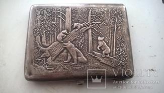 Серебряный портсигар с дарственной надписью