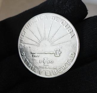 Монета 1 Песо Куба 1953 серебро 900 проба