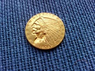 2,5 доллара 1923,золото