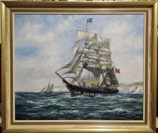 Картина. Вітрильник Луїза Крейг.  Д. Трікетт. (695*600).