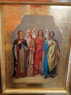Икона св. Леонид Михаил Мария и Фекла