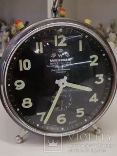 Часы будильник Германия, WEHRLE Three-in-on Rust + dust protected Shosk proof