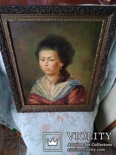 Старинный портрет. Не известной девушки.