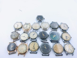 19 старых часов Победа Старт Зим Победа Штурманские Секонда де люкс Кама 1950х