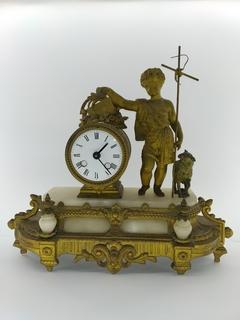 """Антикварний камінний годинник """"Пастушок"""" арт. 08"""